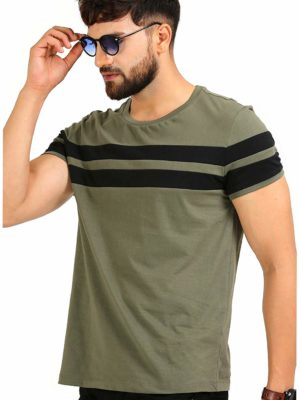 Stripped Cotton T-shirt for Men