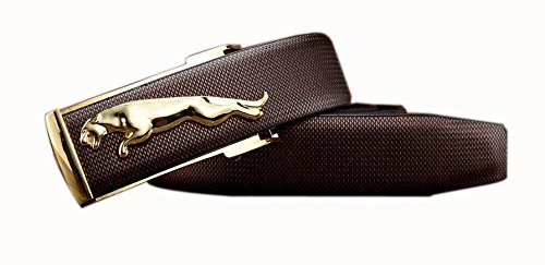 buy Men's Jaguar Brown Leather Belt Buckle (Free Size)