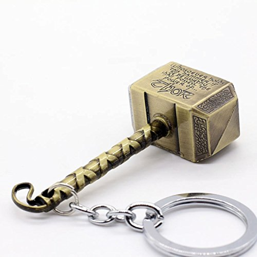 buy Thor Hammer Gold Metal Ring Key Chain