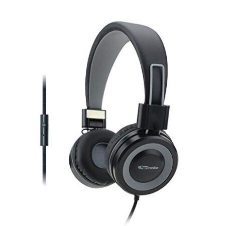 Portronics POR-012 Muffs G Wireless Bluetooth 4.2 Stereo On-Ear Foldable Headphones with Immersive Stereo Sound Hands Free Mic (Grey)