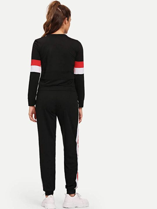 buy Red And White Striped Tracksuit