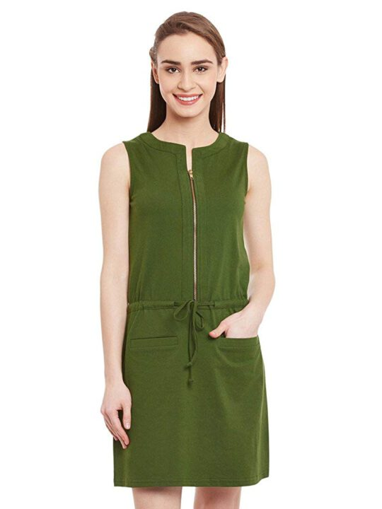 buy Miss Chase Women's Cotton Shift Dress