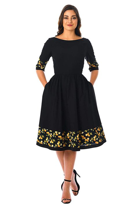 buy Women's Printed Fancy Frock Style Dress