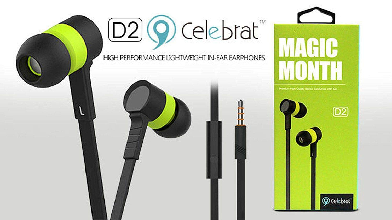 buy Celebrat D2 Premium Stereo Earphones with Mic
