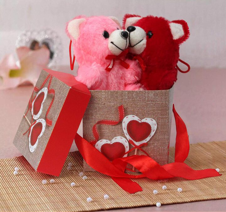 buy Gift Box with Ribbon, 2 Small Teddy