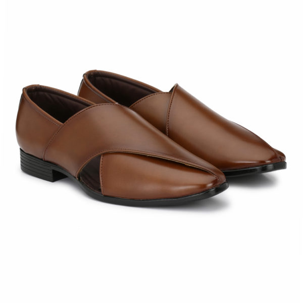 buy Men's Brown Leather Sandals