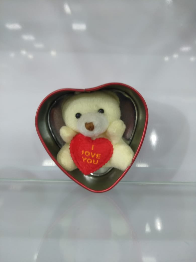 buy Heart-Shaped Box with Teddy