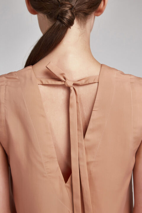 buy Neutral Washed Silk Blouse