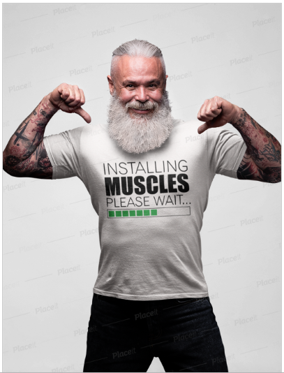 Installing Muscles Tshirt