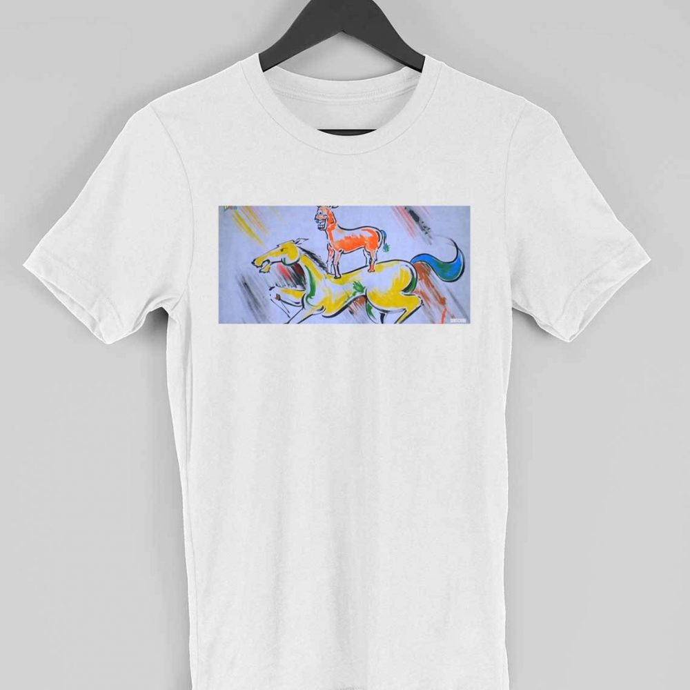 majnu bhai painting t-shirt