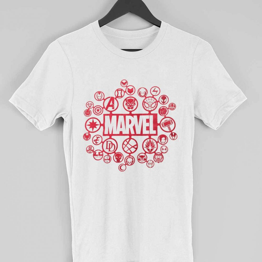 Marvel Superheroes Logo T-shirt