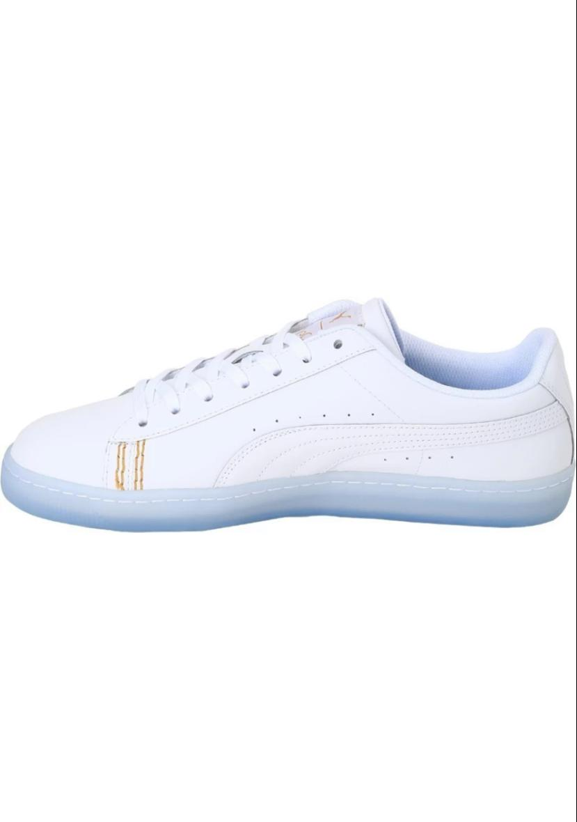 Puma Basket Classic One8 White & Team Gold Sneakers