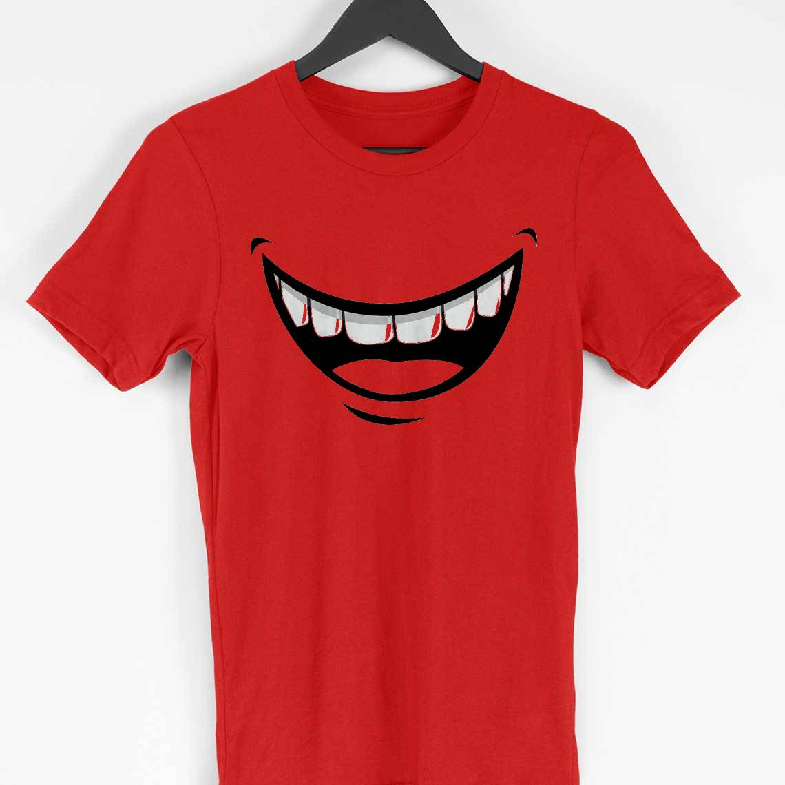 zomato delivery guy smile t-shirt