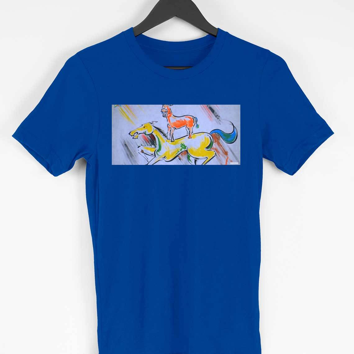 Majnu bhai painting t-shirt (blue)