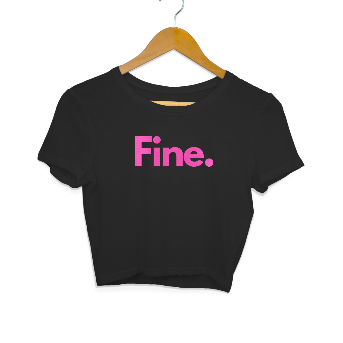 Fine Crop Top (Black)