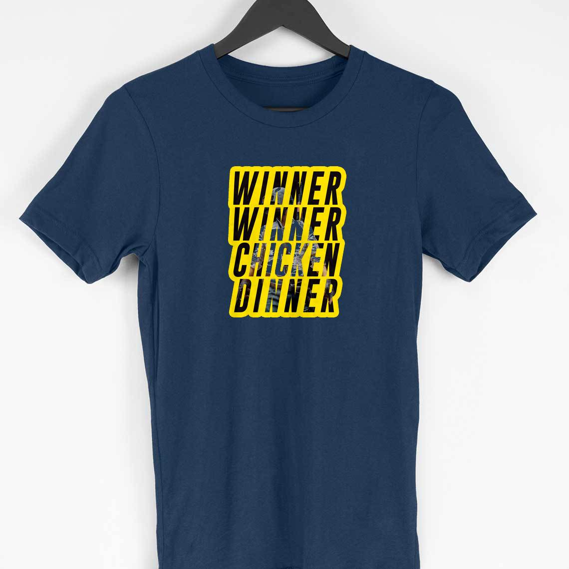 Winner Winner Chicken Dinner T-shirt (Blue)