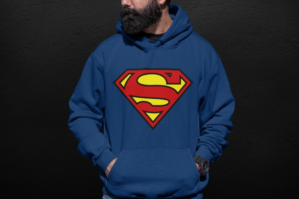 Men's Superman Hoodie (Blue)